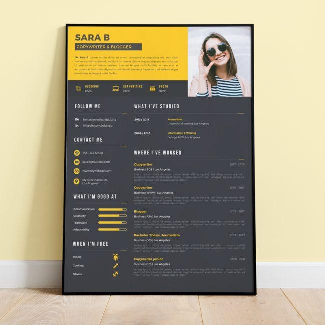 CV - Colorful Yellow