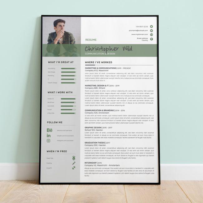 CV - Creative green