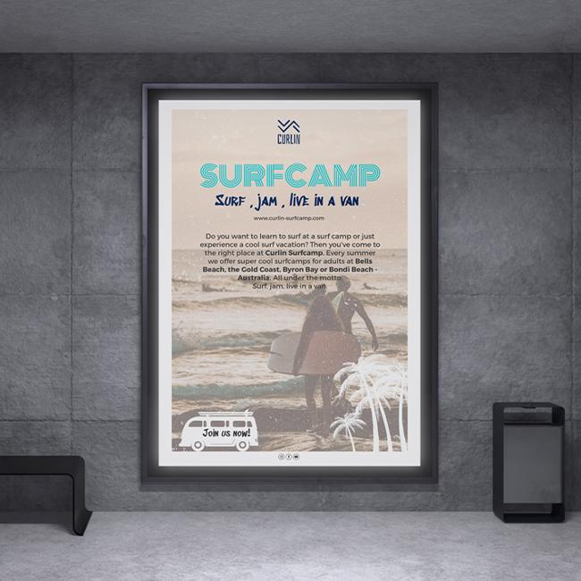 Event flyer - Surfcamp